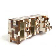 afvalkast-in-sloophout-2-deur-2-lade - waste cabinet