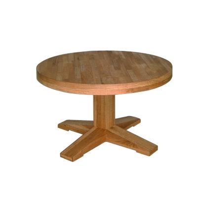 kantine tafel eiken rond
