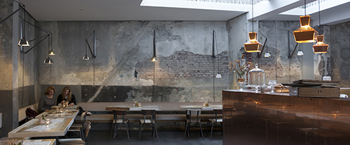 NLD, Niederlande, Rotterdam, Cafe und Restaurant Bakkerswinkel neu, Inneneinrichtung von Piet Hein Eek 2015 | NLD, The Netherlands, Rotterdam, cafe and restaurant new Bakkerswinkel, interior furnitures and installations by Piet Hein Eek 2015