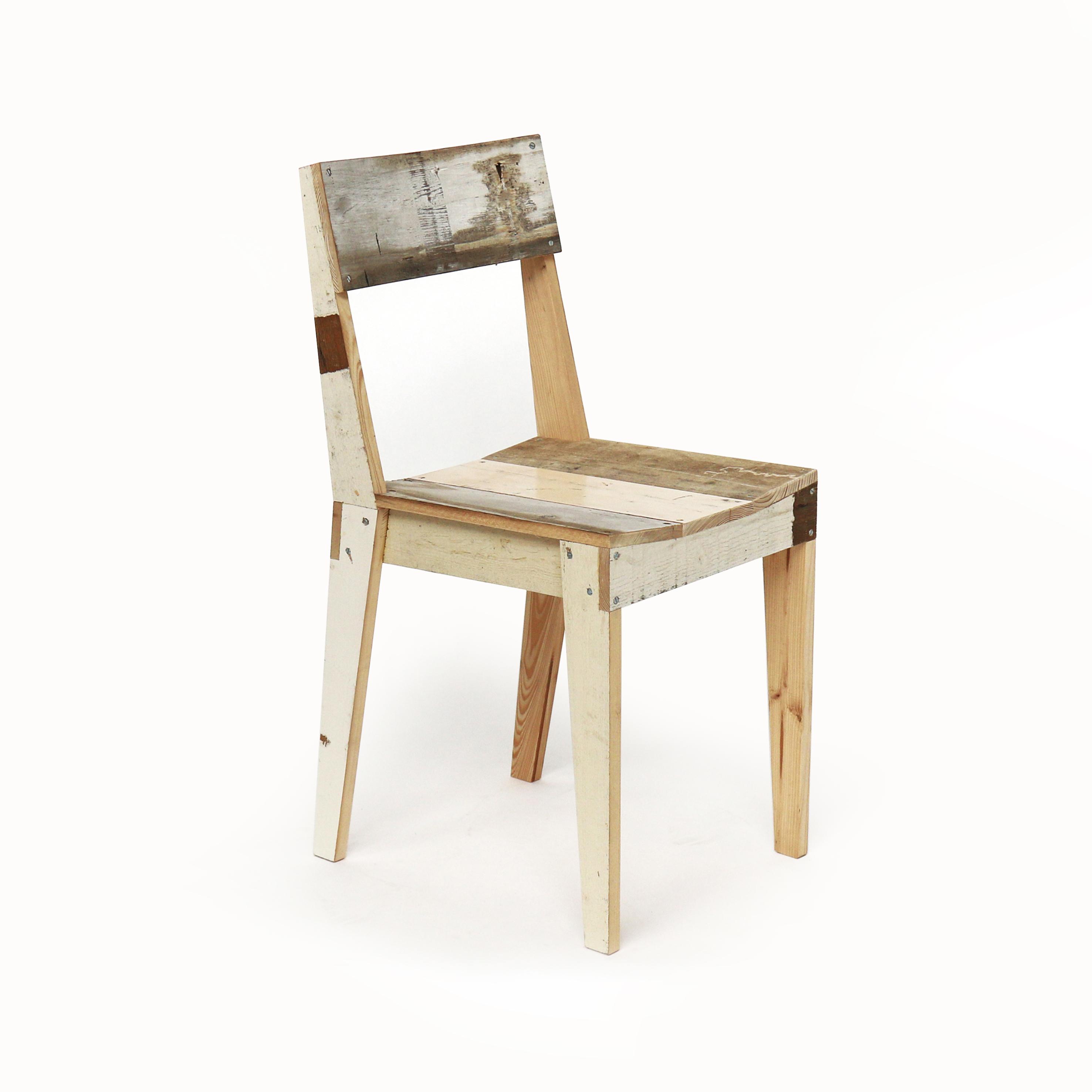 eiken stoel in sloophout piet hein eek