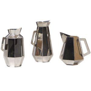 silver facet jug