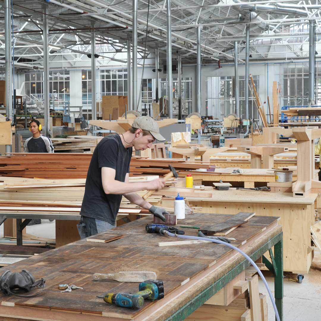 Werkplaats-hout