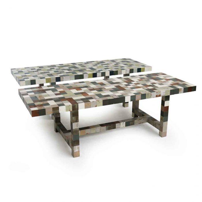 Afval afval 85 x 85 tafel piet hein eek - Tafel stockholm huis ter wereld ...