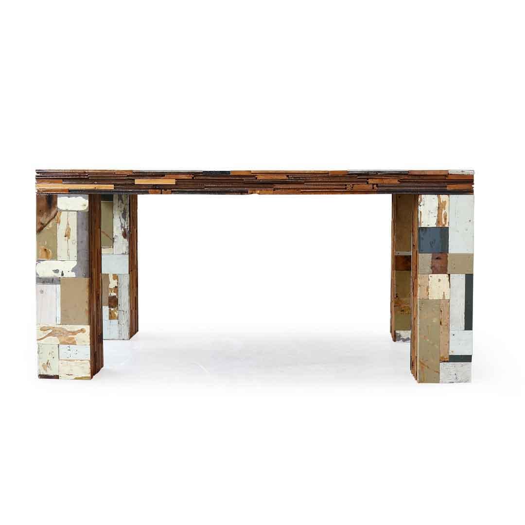 afval houten tafel W