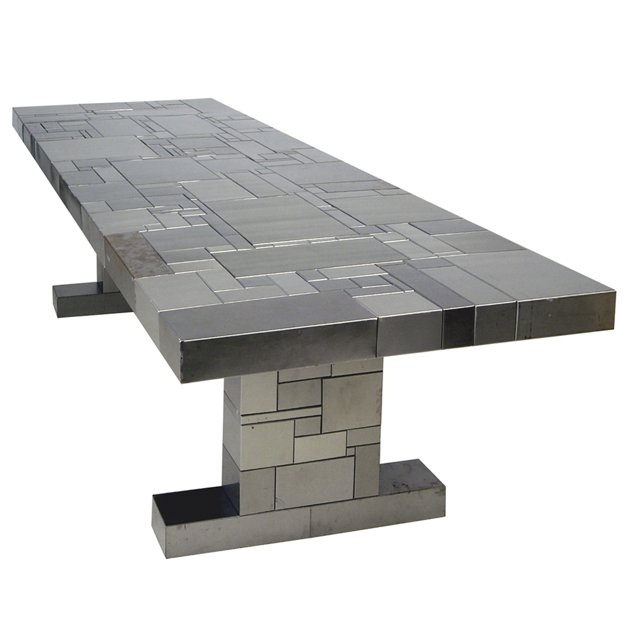 1300-1301 Waste table in inox-steel W