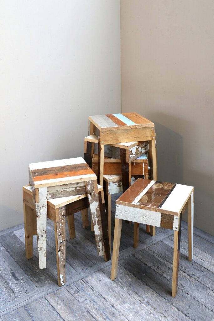 Barstool In Scrapwood Piet Hein Eek