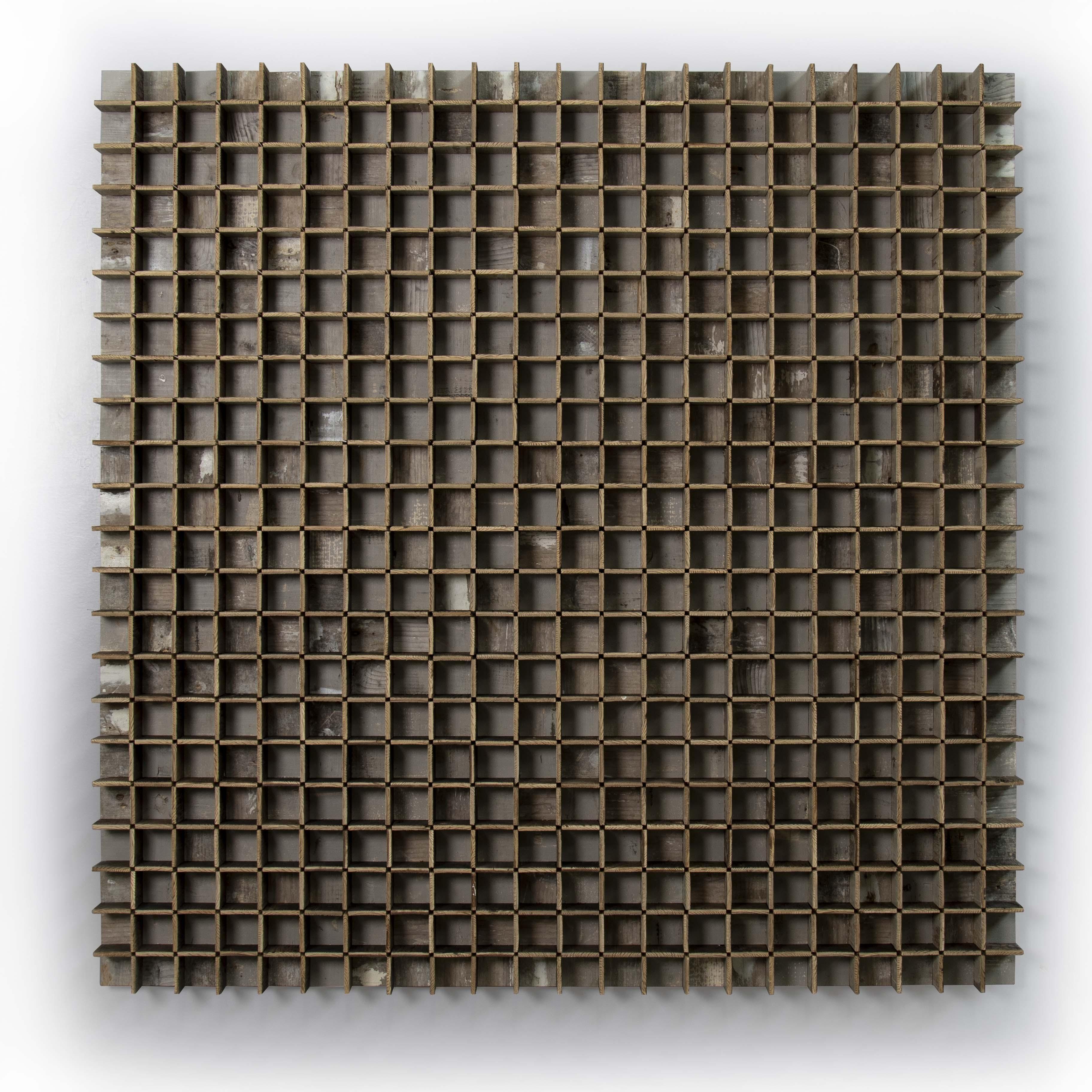 40 x 40 3D afval schilderij – nr4 – vrijstaand