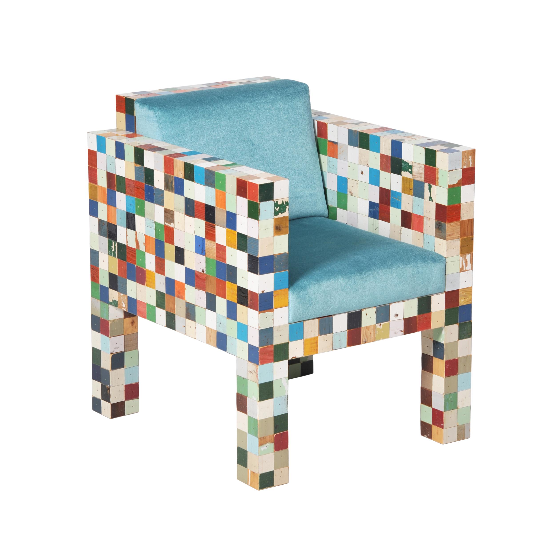 3890-24 40×40 fauteuil gekleurd