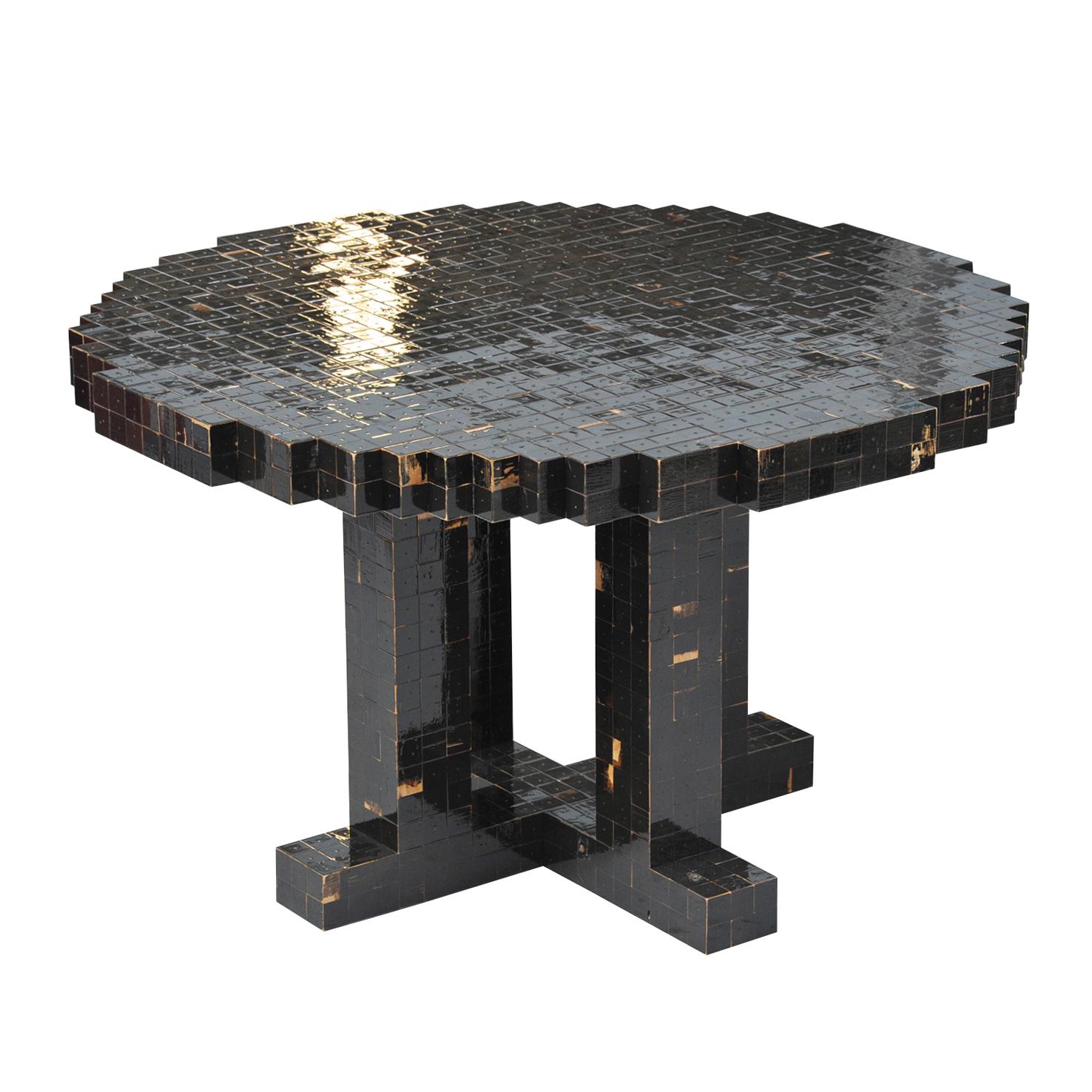 ronde tafel zwart no33