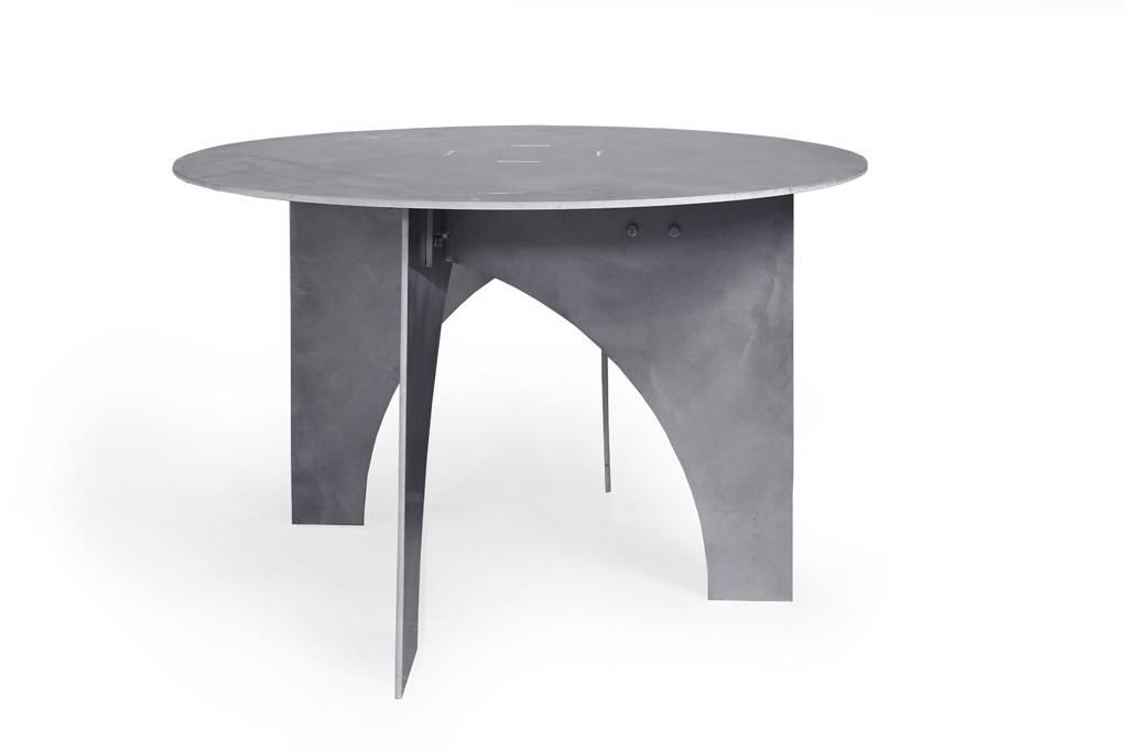 Alu tafel rond 120cm – witte-achtergrond