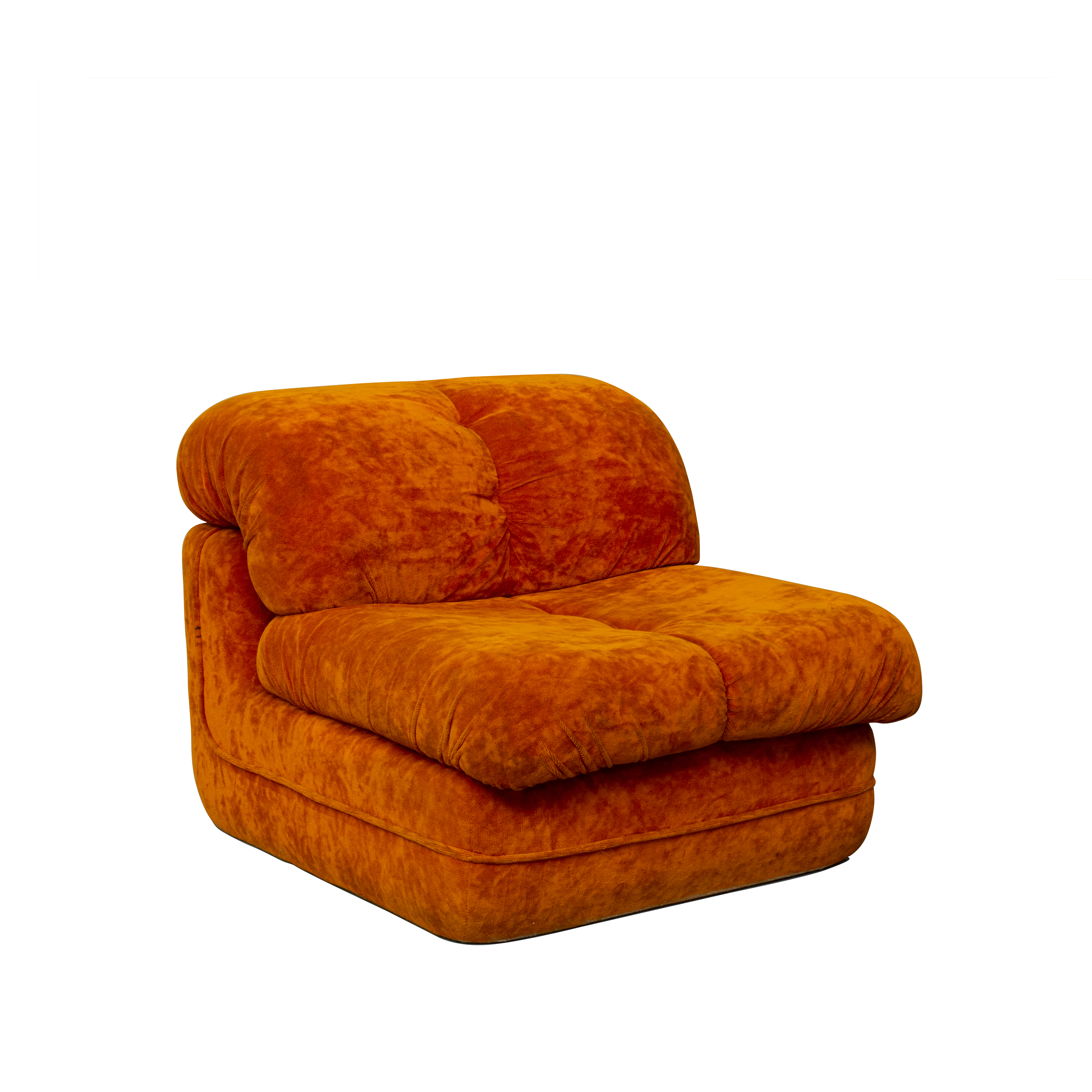 Lounge Chairs in Bright Orange – 04