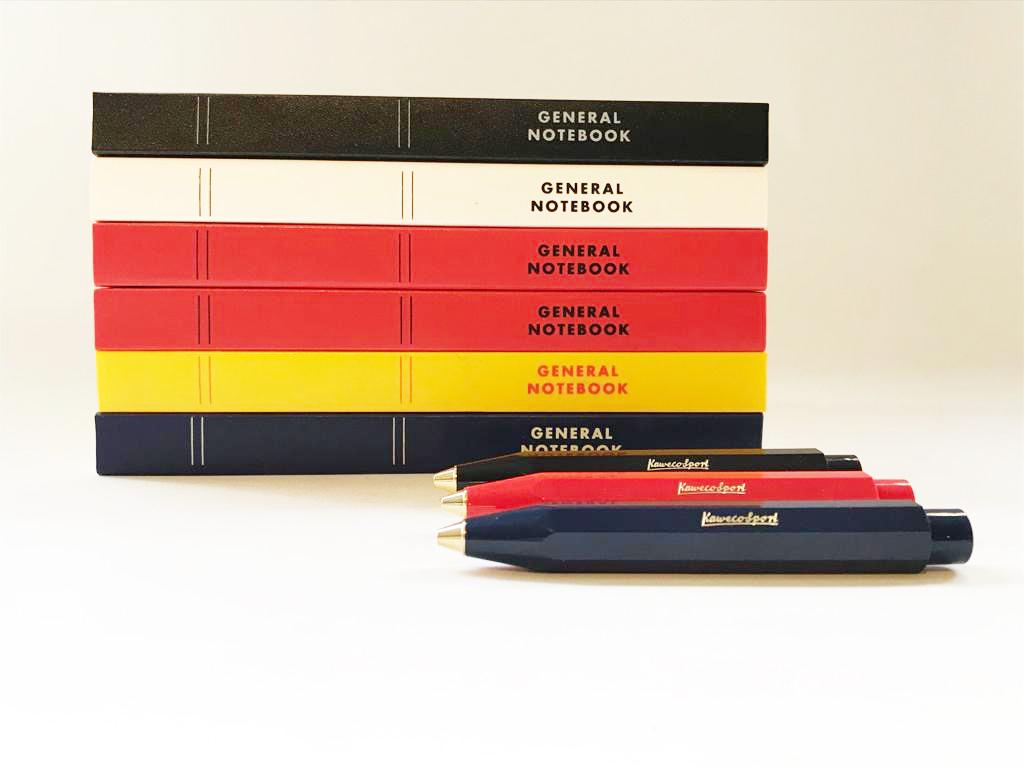 Notebook, €8,95 Kaweco balpen, €19,50. Samen voor €25,-